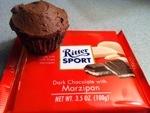 Marzipan chocolate mini cupcakes