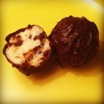 Chocolate-covered cookie dough truffles
