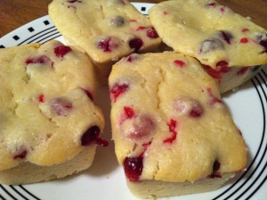 Cranberry Yogurt Loaves close up