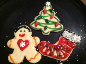 Decorated sugar cut out cookies