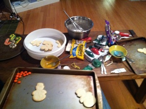 Cut out cookie decorating supplies