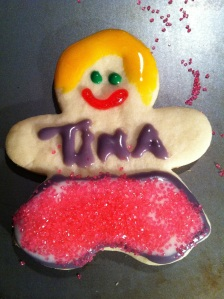 Cut out sugar cookie