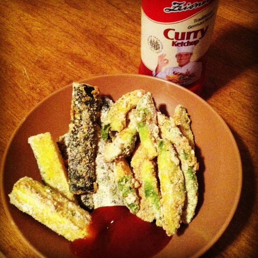 Baked Zucchini and Avocado Fries