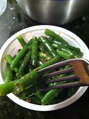 Green beans in mustard vinaigrette