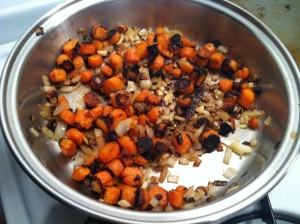 Sauteed carrots and onion