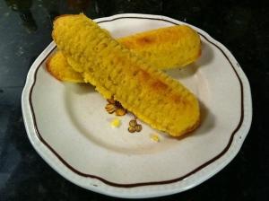 Corncob cornbread muffin