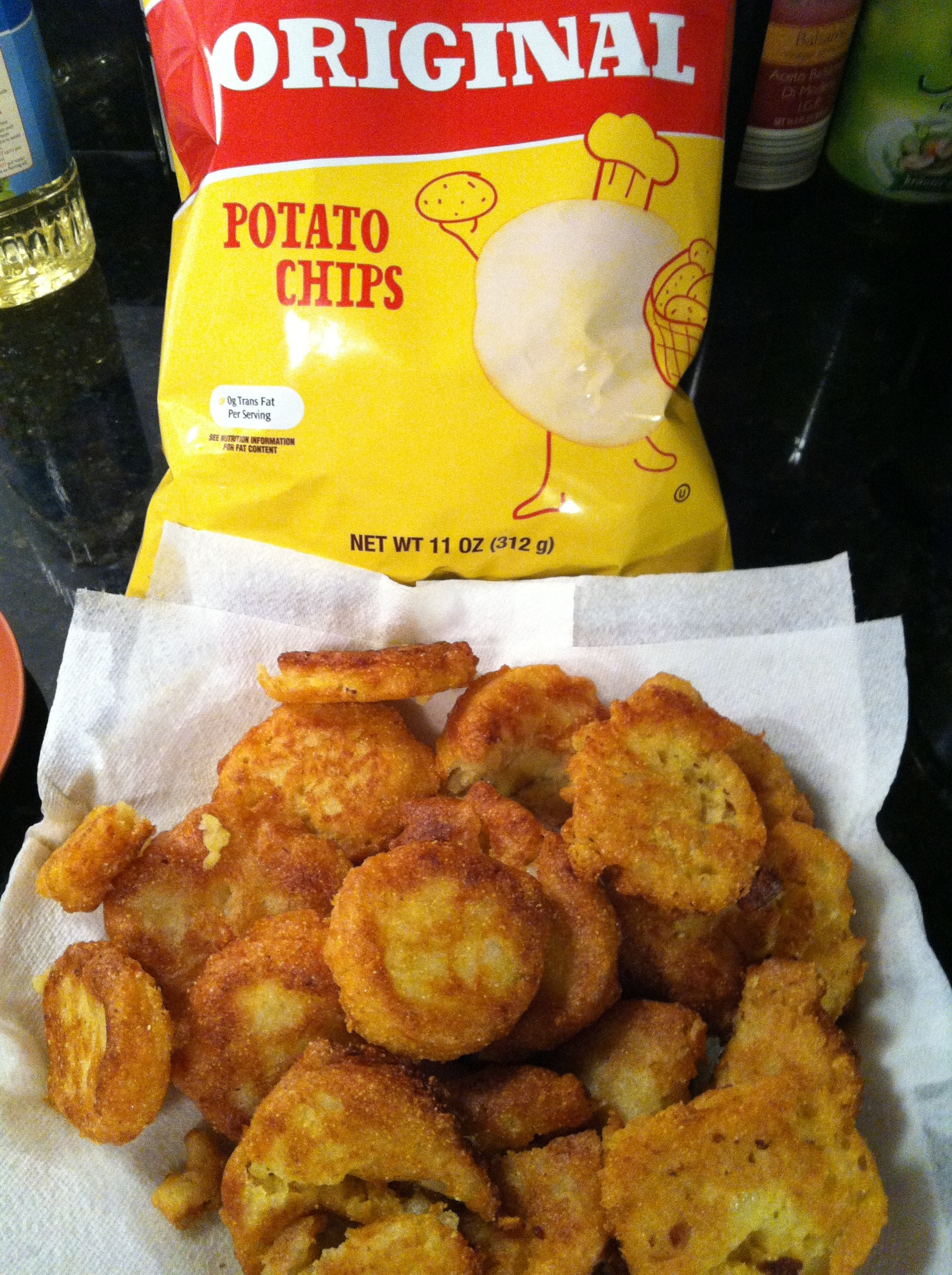 Potato Chip and Cornmeal Fritters