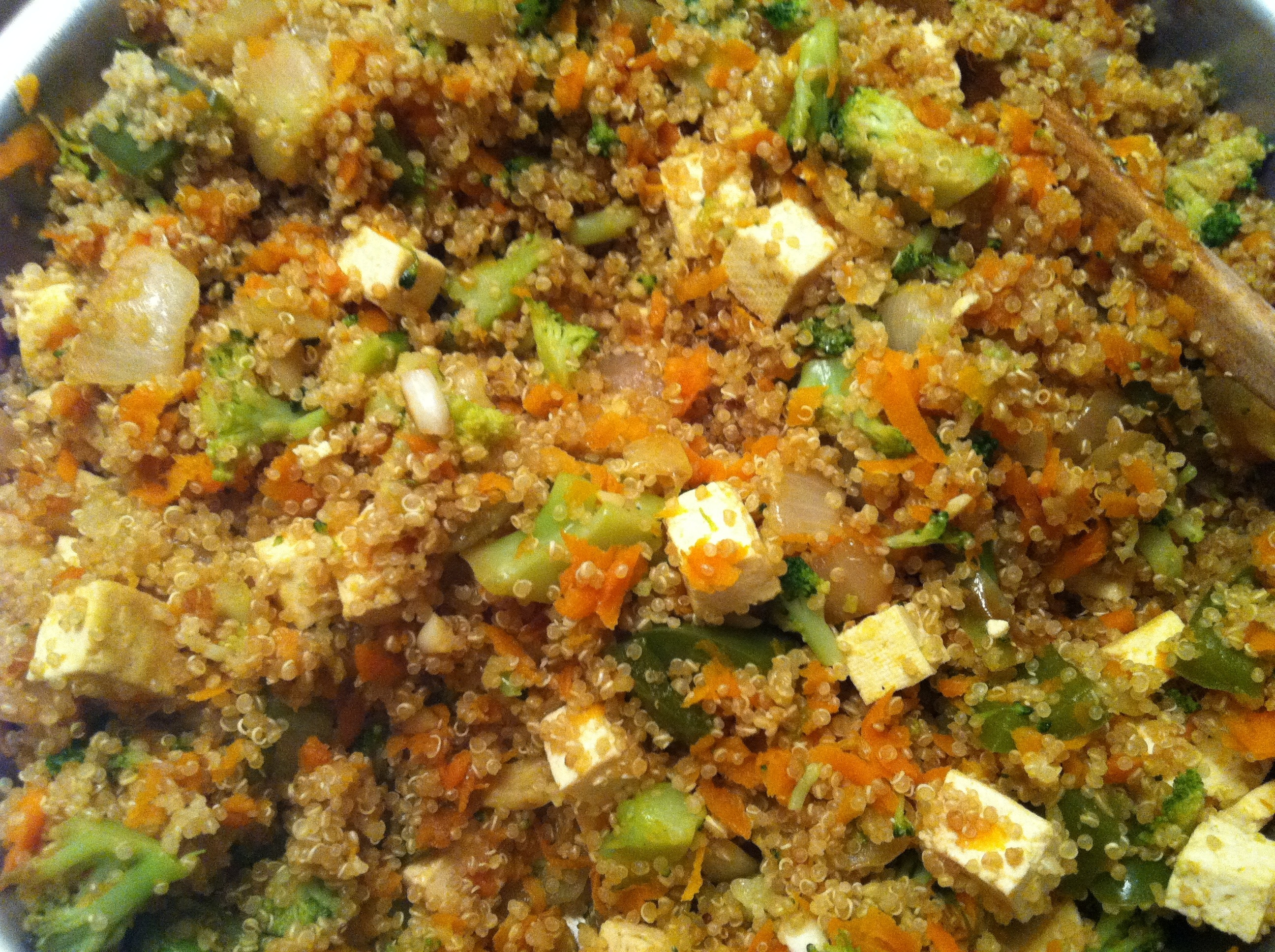 Quinoa & Tofu Veggie Stir Fry