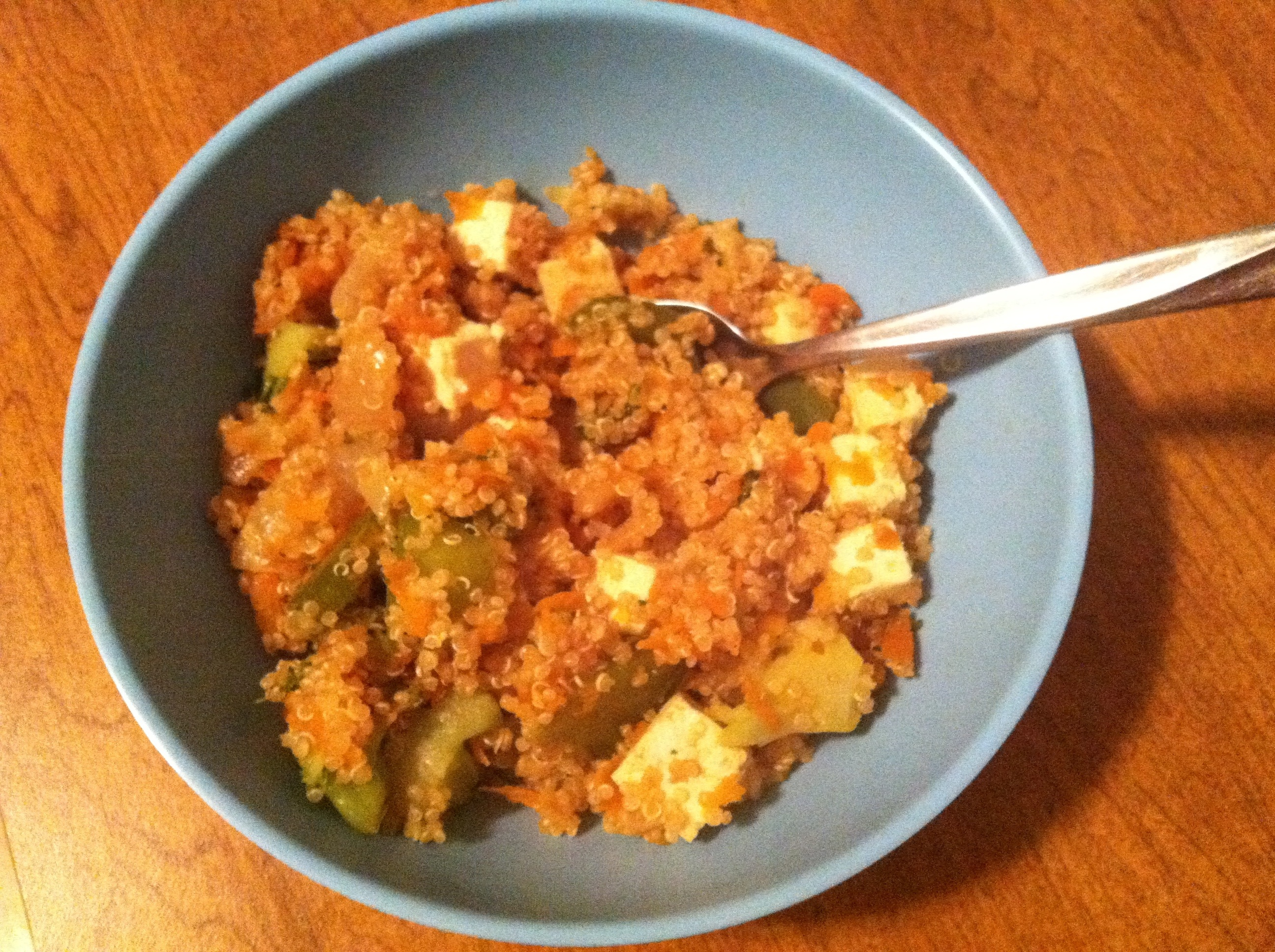 Dinner time! Quinoa & Tofu Veggie Stir Fry