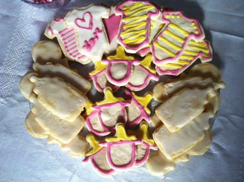 Decorated Baby Shower Sugar Cookies