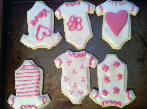 Baby Shower Iced Cut Out Cookies