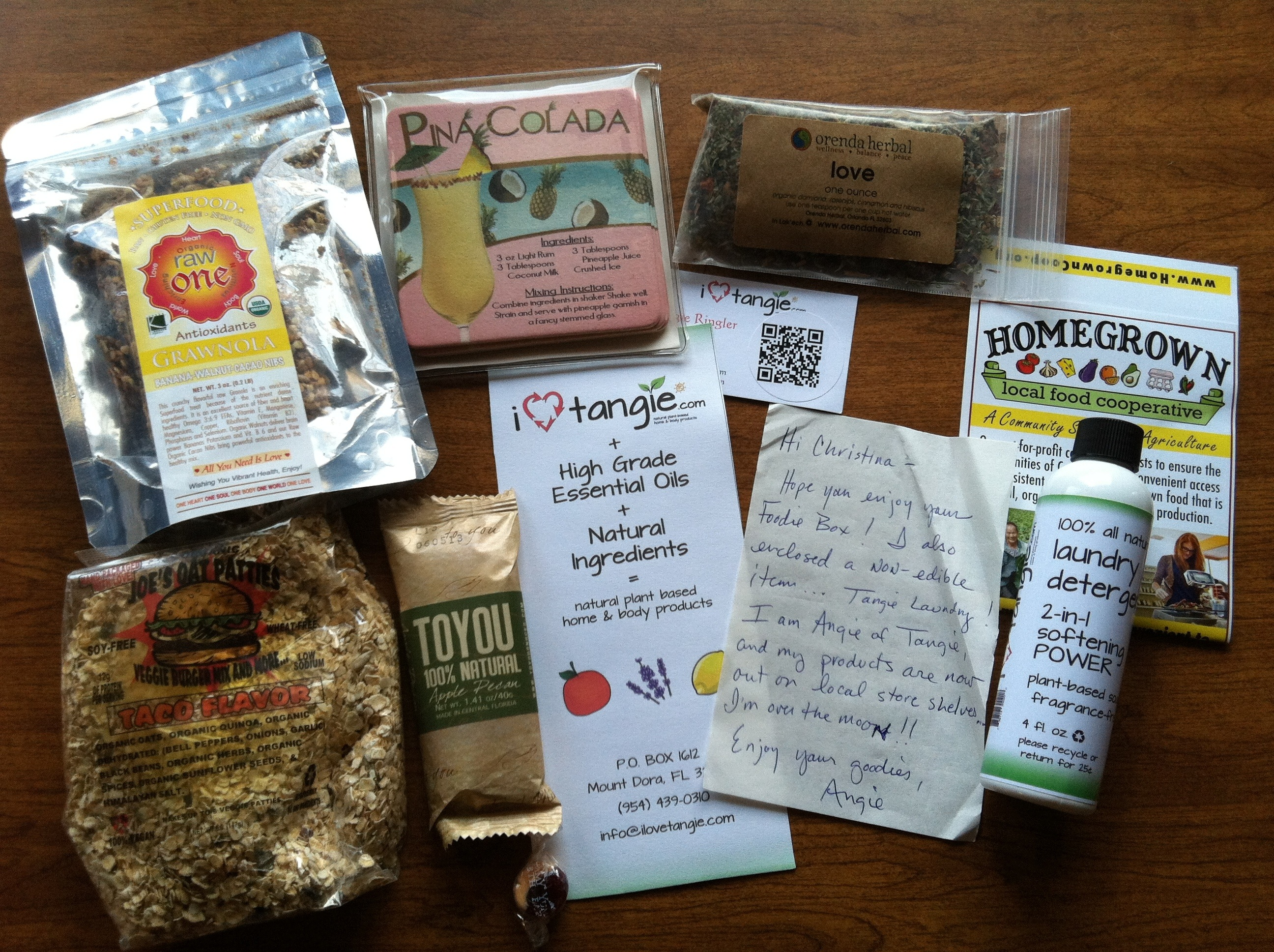 Foodie Pen Pals Goodies