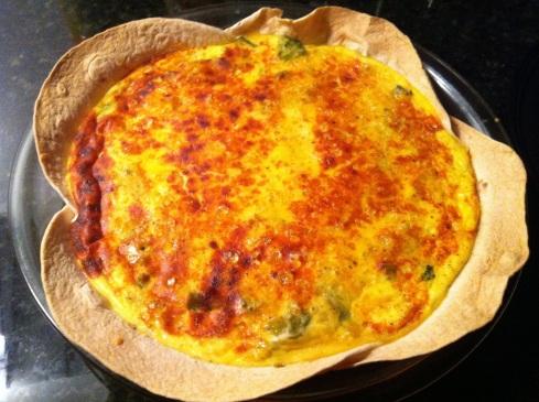 Veggie Tortilla Crusted Quiche