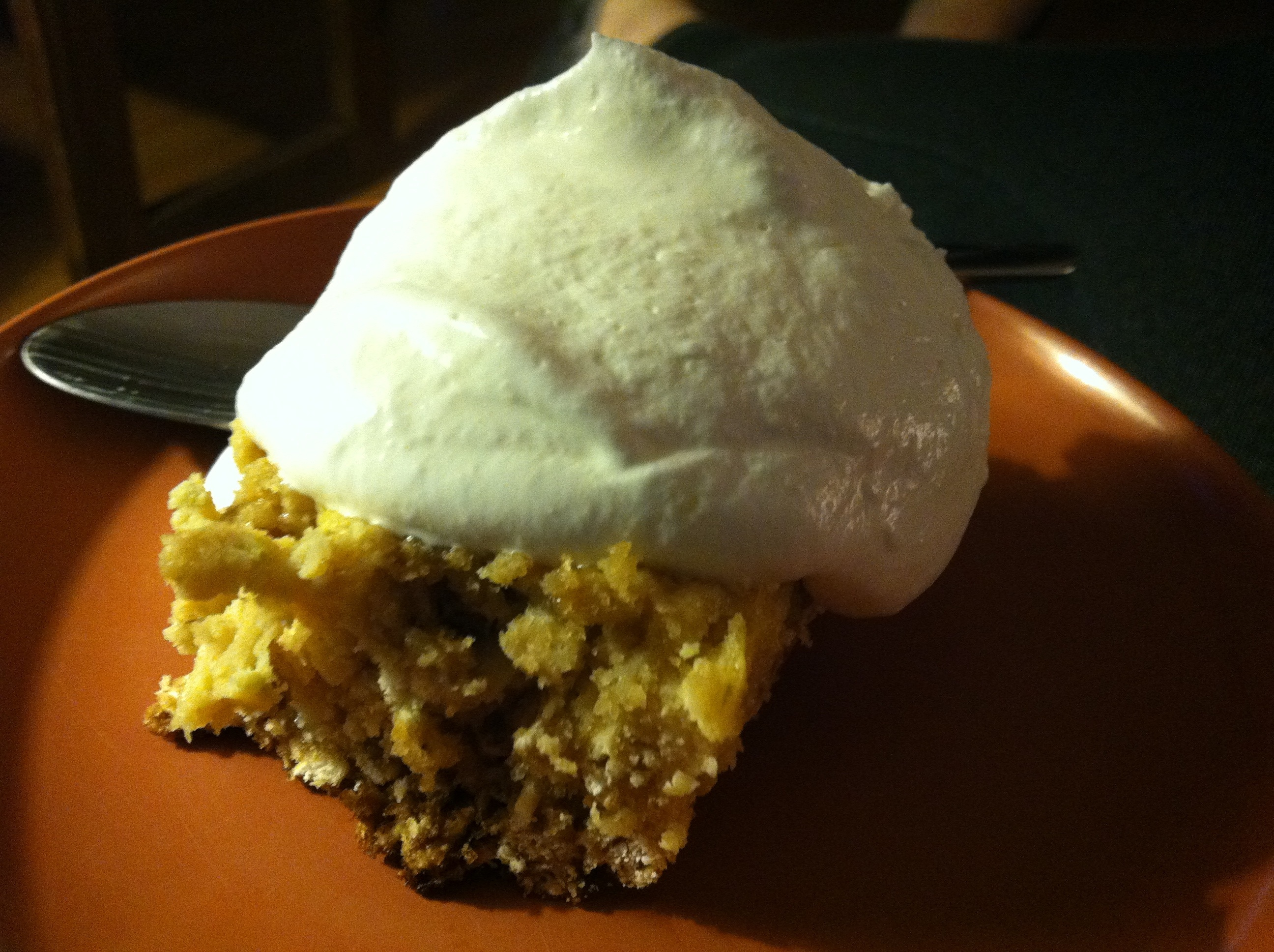 Lime Oat Bar with Whipped Cream