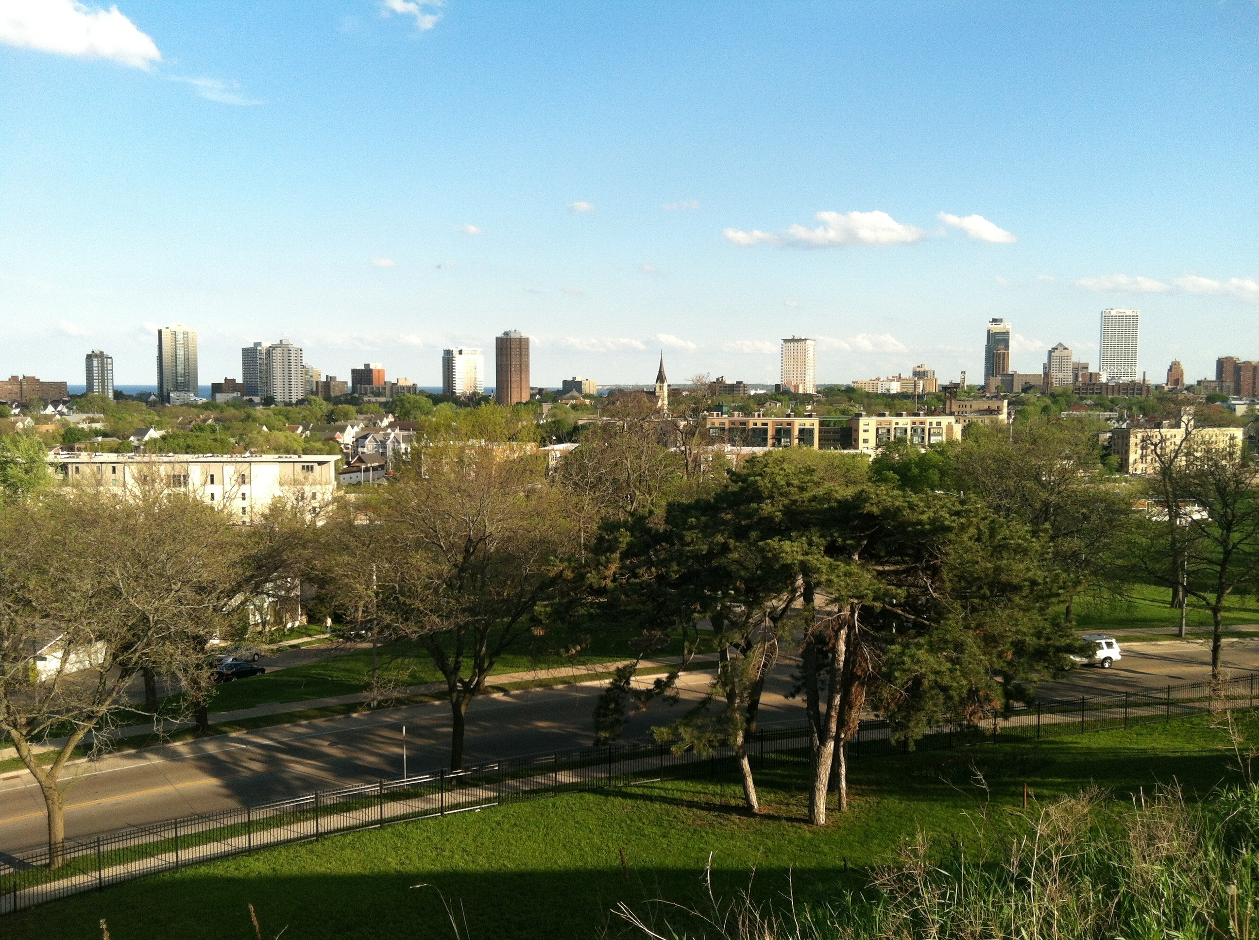 View of Milwaukee from the park