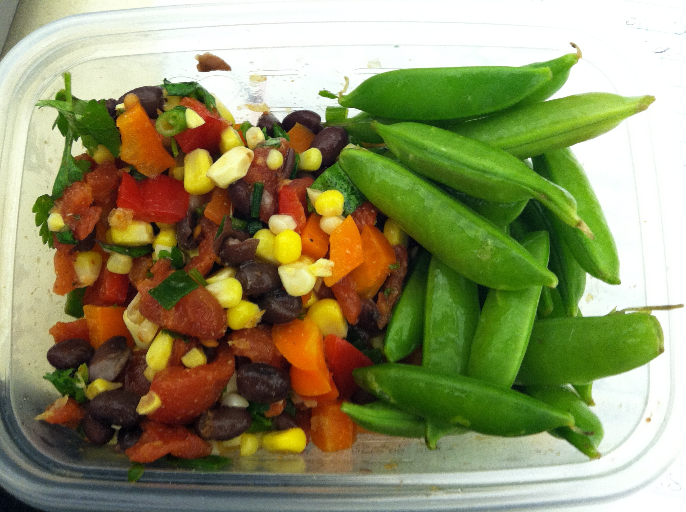 Colorful Roasted Corn, Tomato and Black Bean Salad