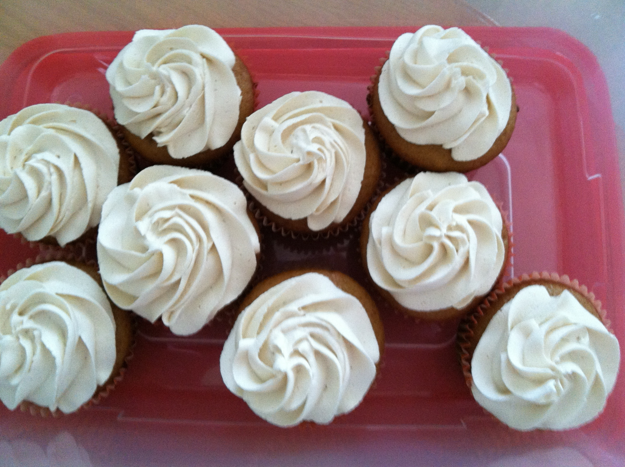Low Fat Brown Sugar Cupcakes with Kahlua Buttercream