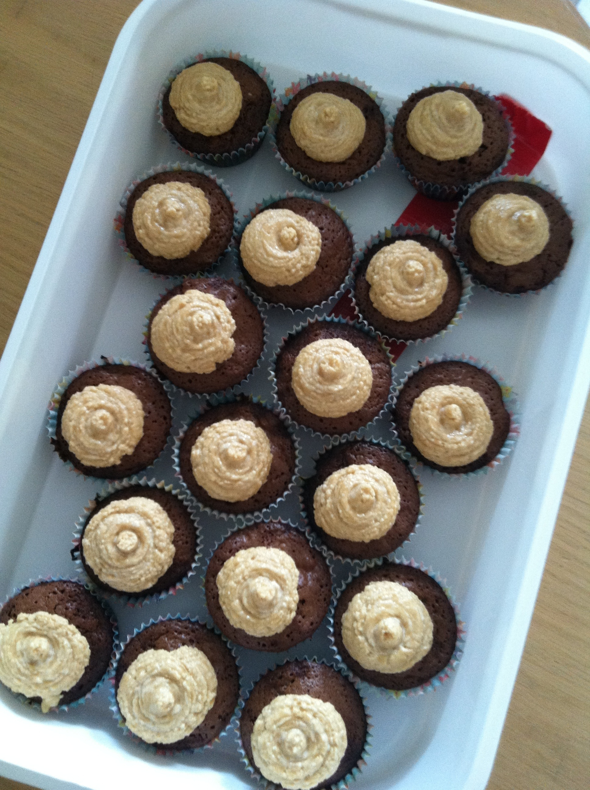 Brownie Cupcakes with Peanut Butter Buttercream