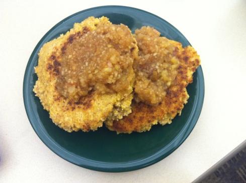 Apple Sauce Cornmeal Pancakes