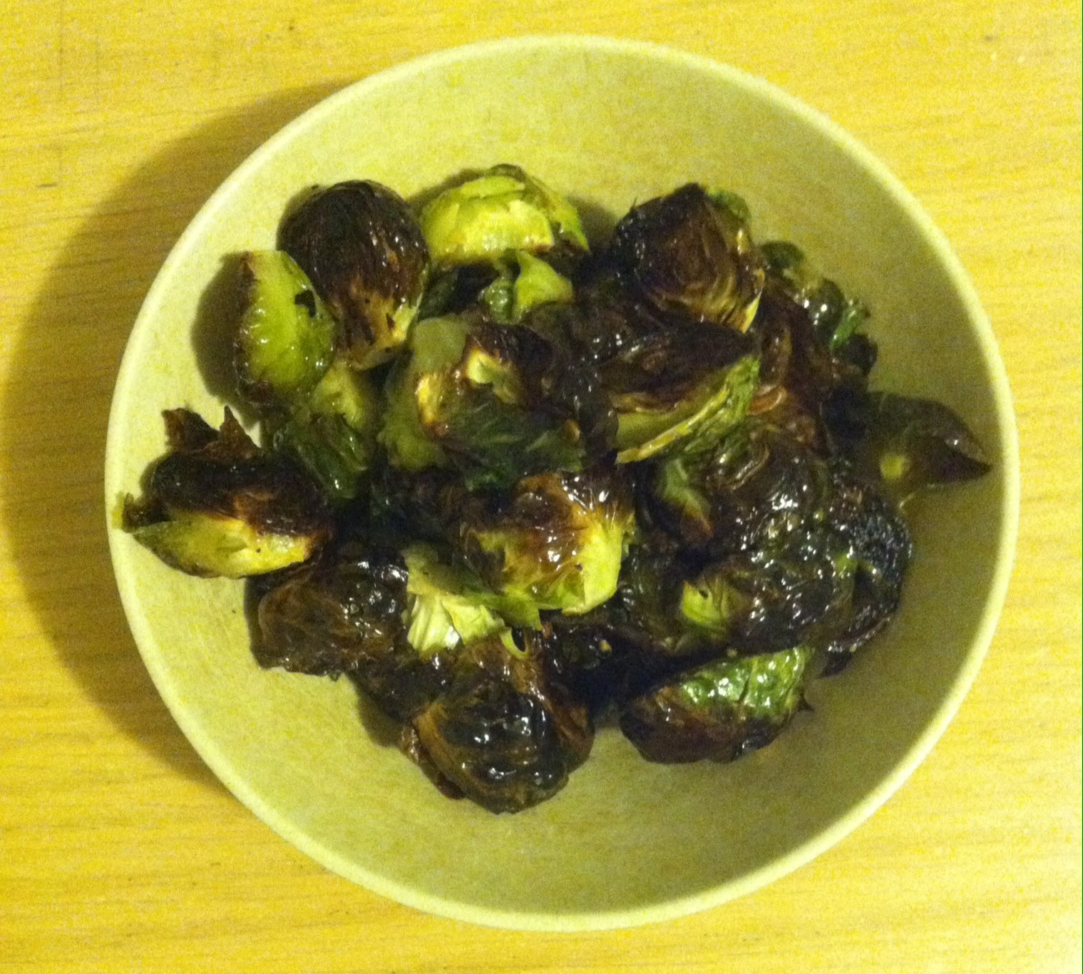 Roasted Brussels Sprouts with Honey White Wine Vinaigrette
