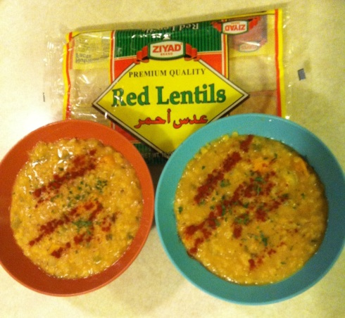 Red Lentils and Peppers