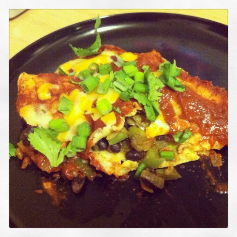 Vegetable Enchiladas with Homemade Enchilada Sauce