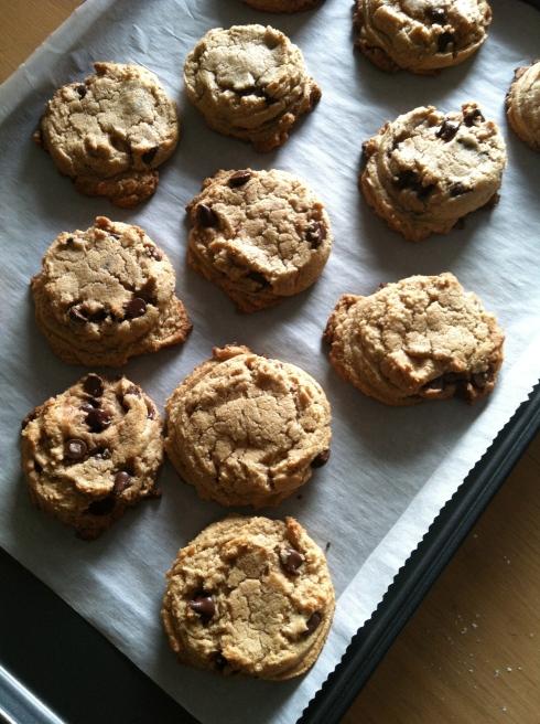 Healthier Tahini Chocolate Chip Cookies | xtinaluvspink.wordpress.com