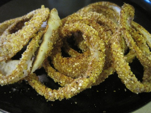 Spicy Cornmeal Onion Rings