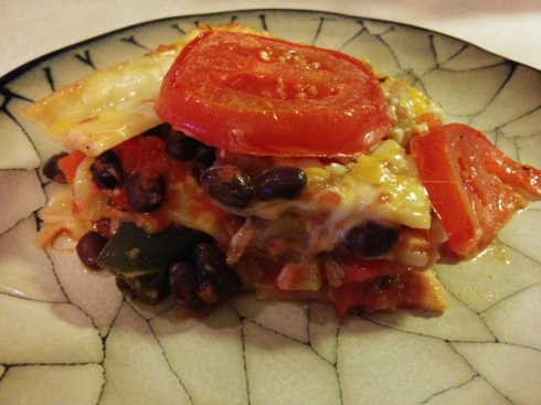 Triple Pepper and Black Bean Lasagna | xtinaluvspink.wordpress.com