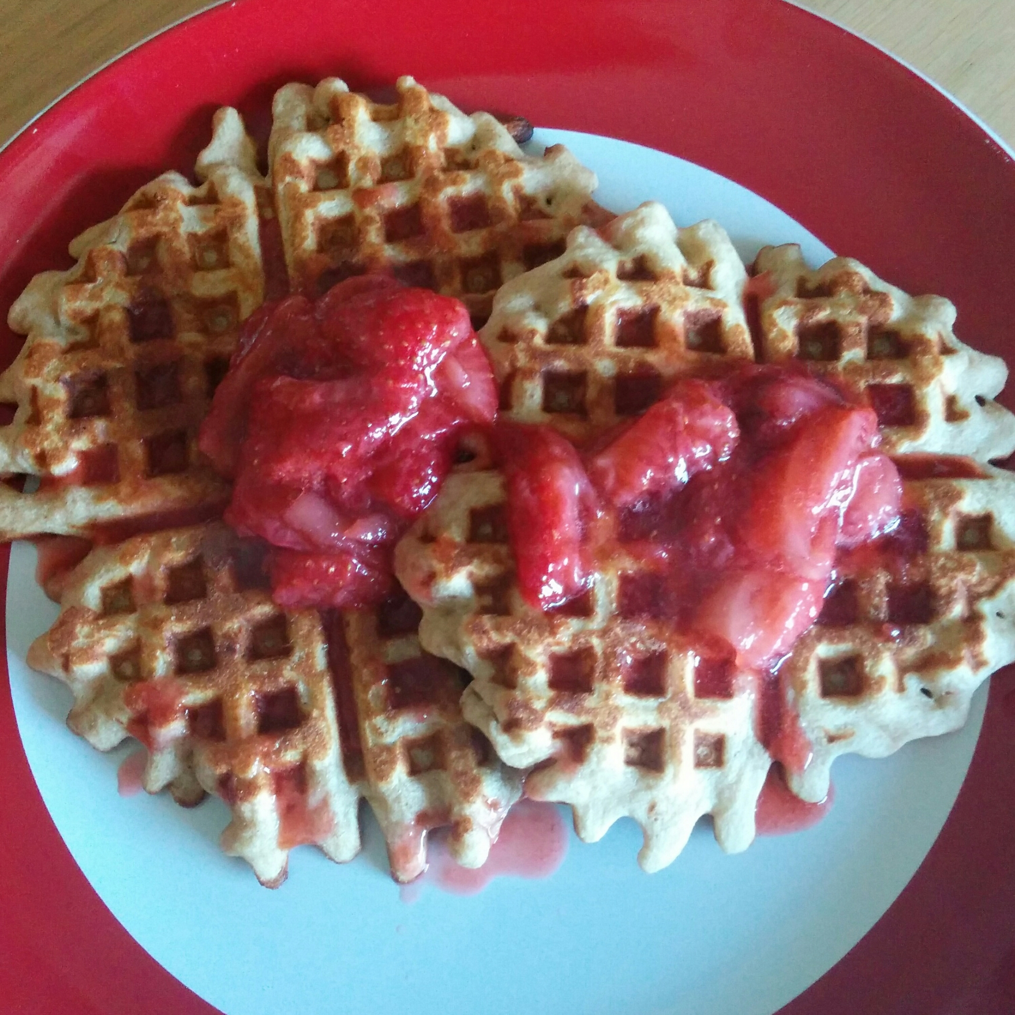 Peanut Butter and Jelly Waffles | xtinaluvspink.wordpress.com