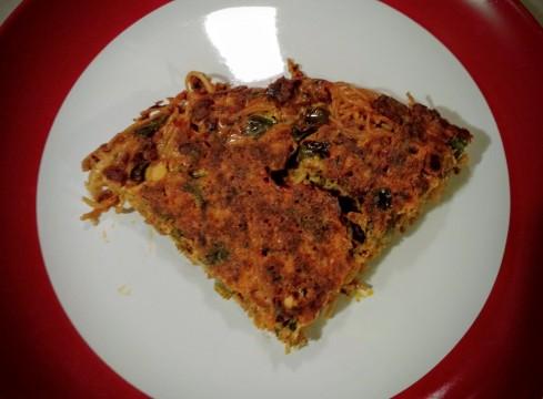 Chorizo Pasta Frittata | xtinaluvspink.wordpress.com