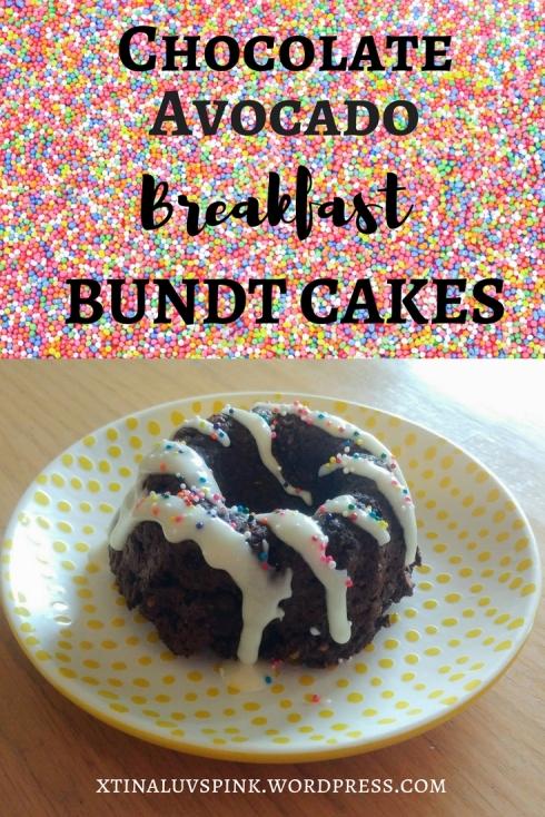 Chocolate Avocado Breakfast Bundt Cakes | xtinaluvspink.wordpress.com