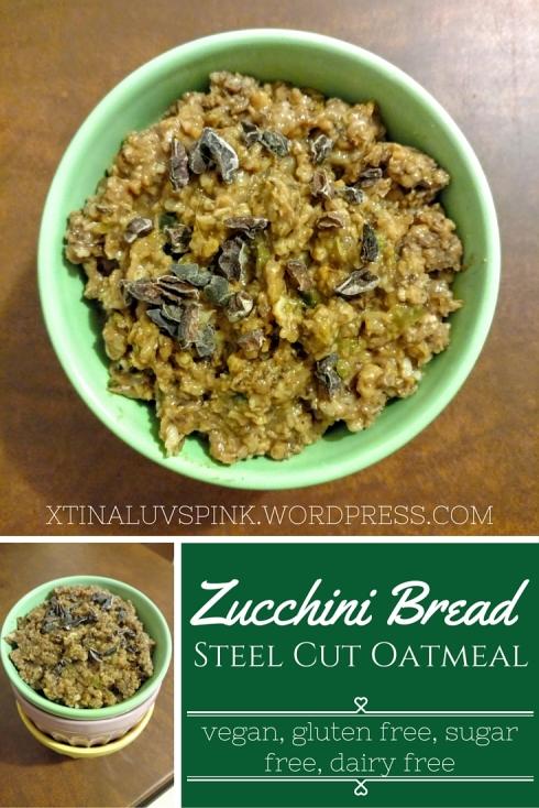 Zucchini Bread Steel Cut Oatmeal | xtinaluvspink.wordpress.com