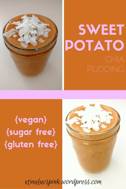 Sweet Potato Chia Pudding | xtinaluvspink.wordpress.com