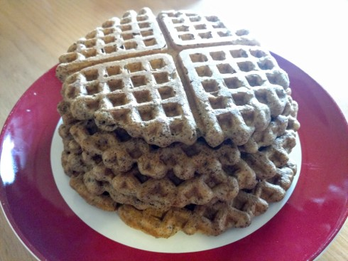 Spent Grain Waffles with Chocolate Clementine Sauce | xtinaluvspink.wordpress.com
