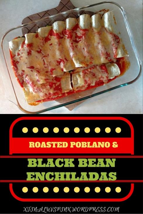 Roasted Poblano and Black Bean Enchiladas | xtinaluvspink.wordpress.com
