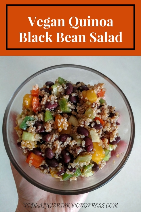 Vegan Quinoa Black Bean Salad | xtinaluvspink.wordpress.com