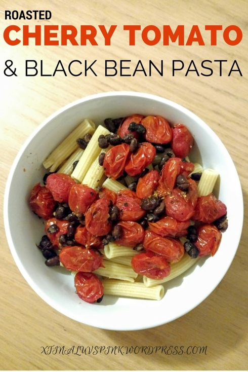 Roasted Cherry Tomato & Black Bean Pasta | xtinaluvspink.wordpress.com
