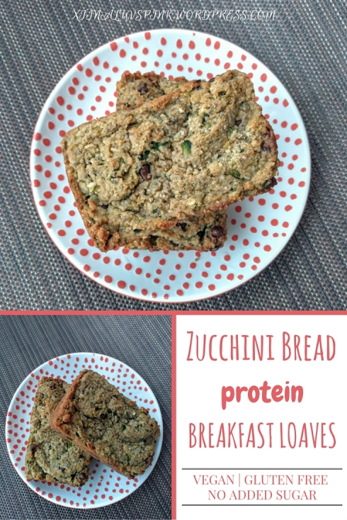 Zucchini Bread Protein Breakfast Loaves | xtinaluvspink.wordpress.com