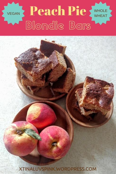 Peach Pie Blondie Bars {vegan, whole wheat, unrefined sugar free} | xtinaluvspink.wordpress.com
