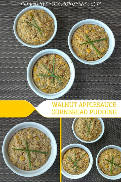 Walnut Applesauce Cornbread Pudding | xtinaluvspink.wordpress.com