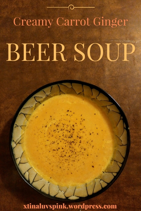 Creamy Carrot Ginger Beer Soup | xtinaluvspink.wordpress.com