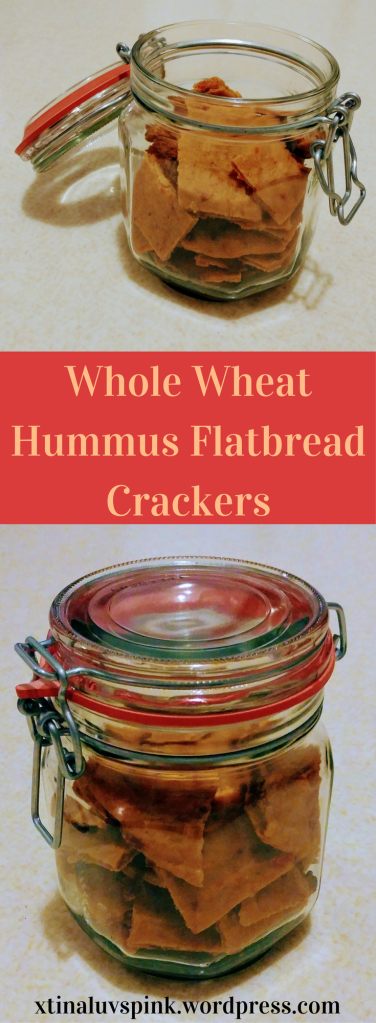 Whole Wheat Hummus Flatbread Crackers | xtinaluvspink.wordpress.com