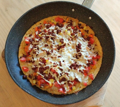 Socca Mexican Pizza | xtinaluvspink.wordpress.com