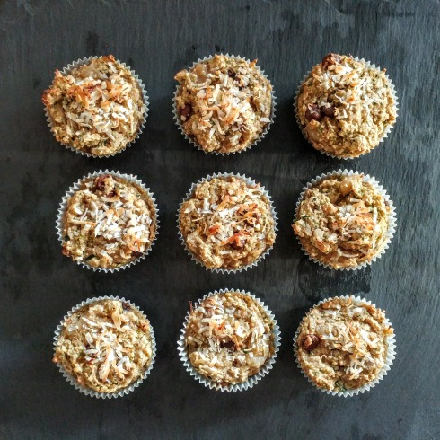 Vegan Energy Muffins: Packed with Zucchini, Bananas, and Walnuts | xtinaluvspink.wordpress.com