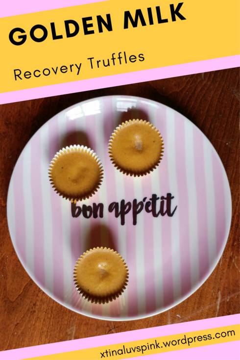 Golden Milk Recovery Truffles | xtinaluvspink.wordpress.com